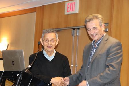 Elder Larry Grant with Kelly Lendsay